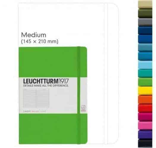 Libreta Leuchtturm1917 A5 Medium comparación de tamaño